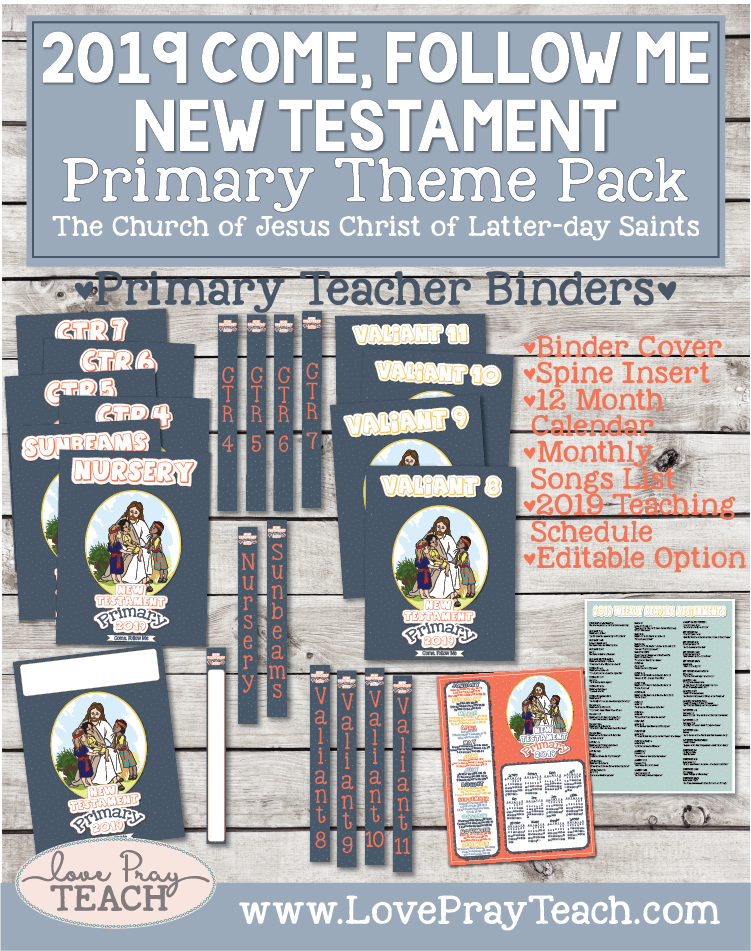 Come, Follow Me—For Primary: New Testament 2019 Theme Pack for Non-Subscribers
