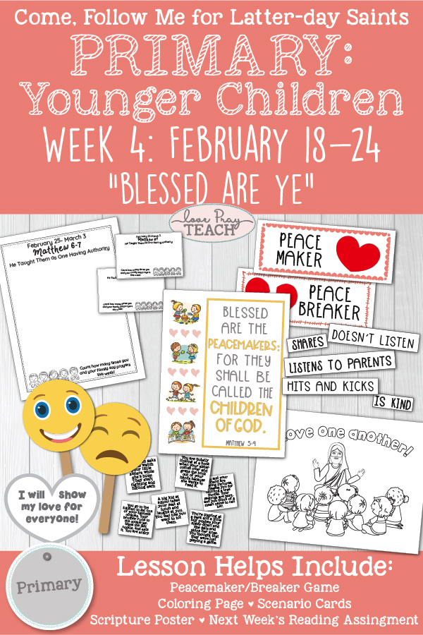 Come, Follow Me for Primary: February Week 4: Matthew 5