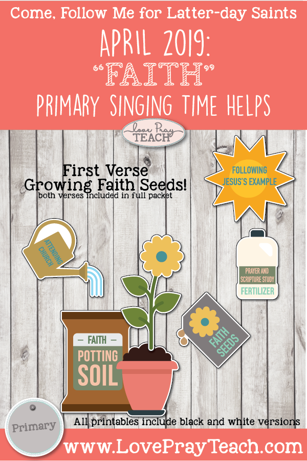 """Come, Follow Me for Primary-2019 April Singing Time: """"Faith"""" CSB, 96-97"""