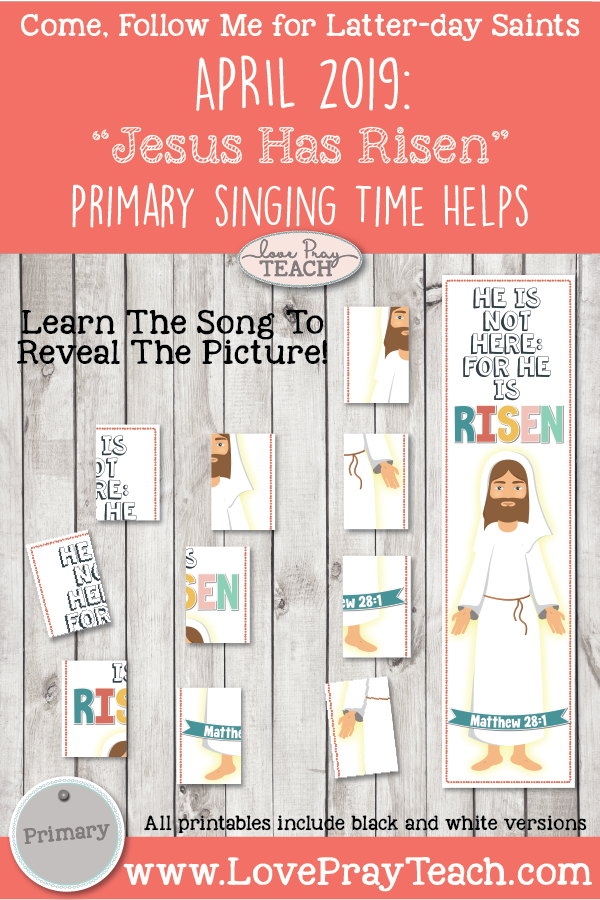 """Come, Follow Me for Primary-2019 April Singing Time: """"Jesus Has Risen"""" CSB, 70"""
