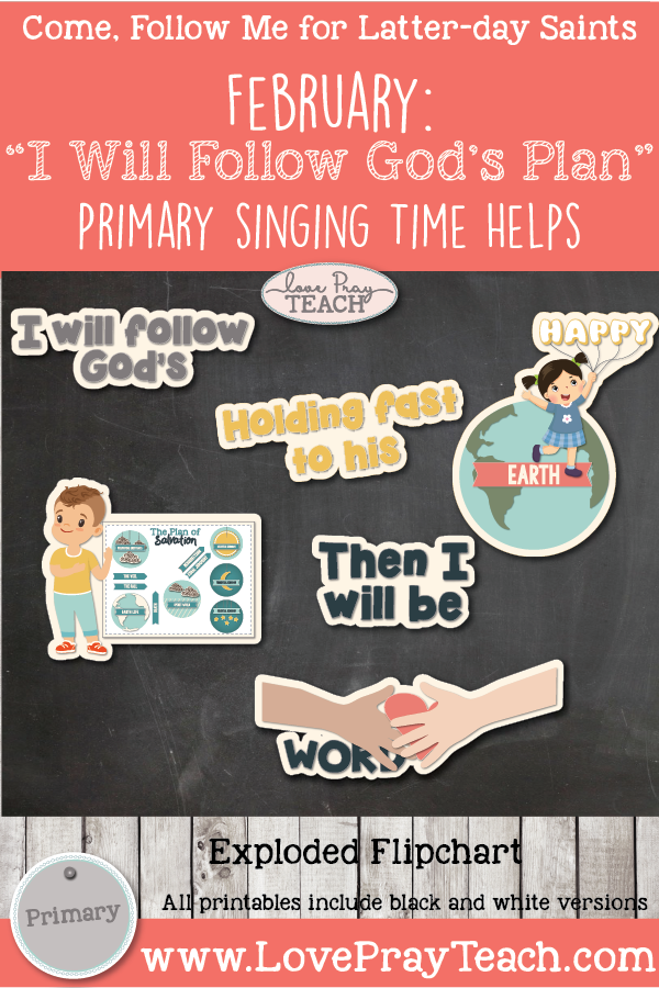 Come, Follow Me 2019-For Primary- Singing Time Helps February: