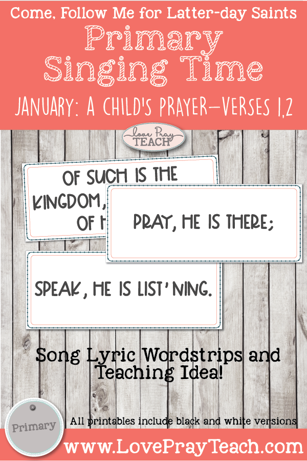 Come, Follow Me 2019-For Primary- Singing Time Helps, January: