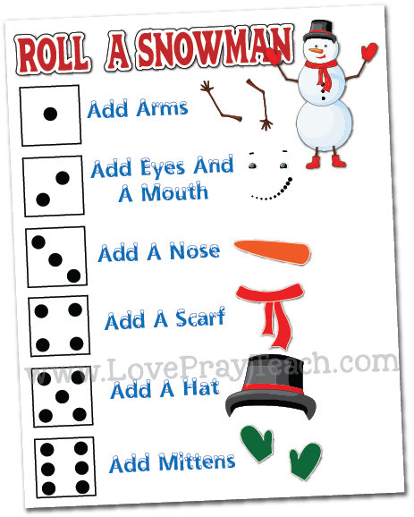 Come, Follow Me 2019-For Primary- Singing Time Helps, January: Roll a Snowman Review Game