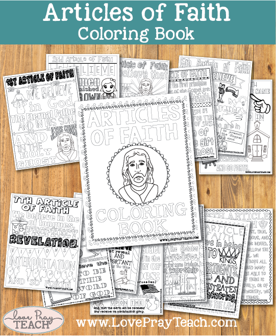 Articles of Faith Coloring Book