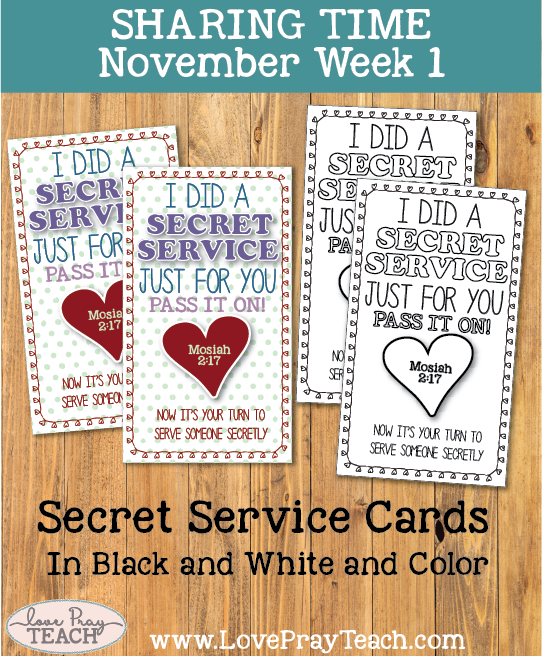 November 2017 Sharing Times Week 1: I can be a missionary by serving others
