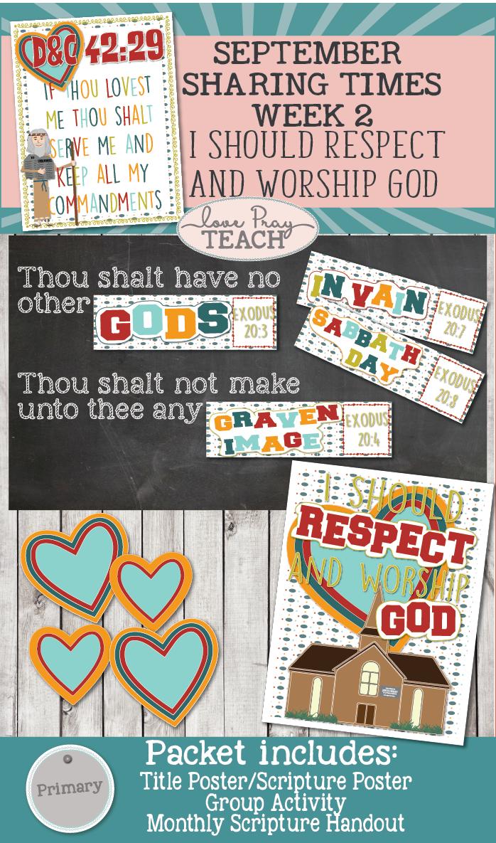 September 2017 Sharing Times Week 2: I should respect and worship God
