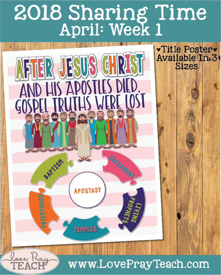 April 2018 Sharing Times Week 1: After Jesus Christ and His Apostles died, gospel truths were lost