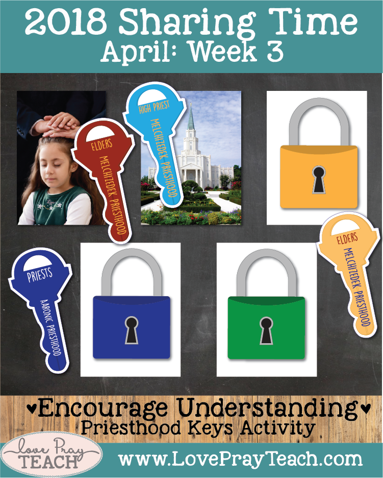 Lesson helps packet with printables and lesson ideas for April 2018 sharing times Week 3: Priesthood authority was restored by heavenly messengers