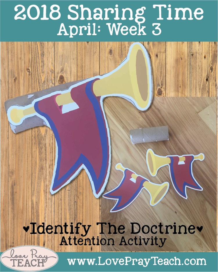 Lesson helps packet with printables and lesson ideas forApril 2018 sharing times Week 3: Priesthood authority was restored by heavenly messengers