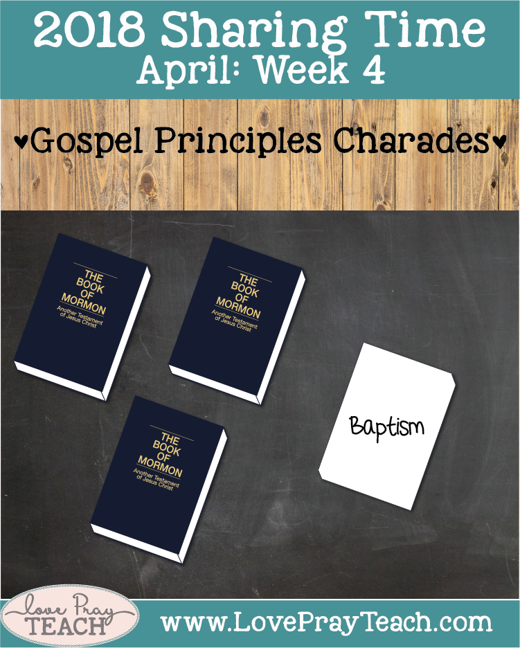 Charades game, Poster, Translate the code activity, Bookmark, and lesson ideas forApril 2018 Sharing Times Week 4: Joseph Smith translated the Book of Mormon and restored gospel truths