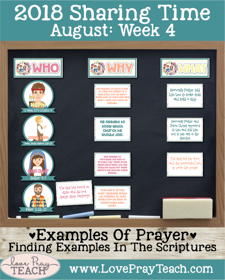 August 2018 Sharing Times Week 4: Answers to prayers come from Heavenly Father in many ways