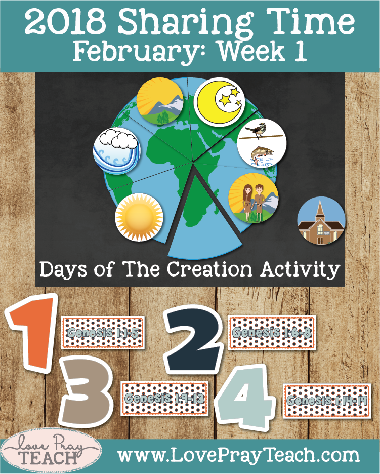 February 2018 Sharing Times Week 1: Jesus Christ created the earth under the direction of Heavenly Father