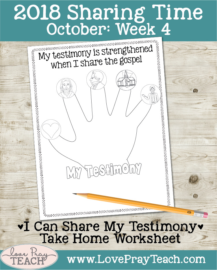 October 2018 Sharing Times Week 4: My testimony is strengthened when I share the gospel