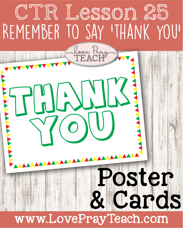 Primary 2 Ctr Lesson 25 Remember To Say Thank You