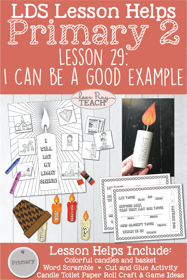 Lds Primary 2 Lesson 29 I Can Be A Good Example Printable Lesson Packet