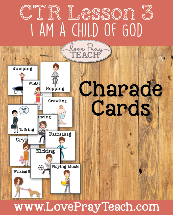 "LDS Primary 2 CTR Lesson 3: ""I Am a Child of God"" Lesson Packet including Coloring Page, Crown, Bookmark, Paper Glove, Paper Doll template, Game Ideas, Additional Ideas from the Friend and more! www.LovePrayTeach.com"
