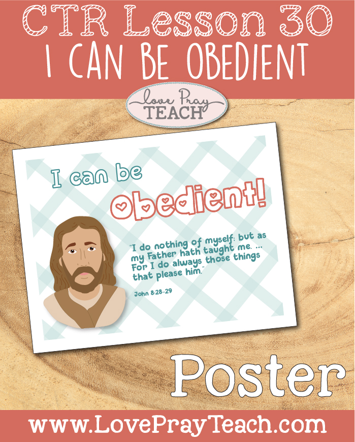 """LDS Primary 2 CTR Lesson 30: """"I Can Be Obedient"""" Lesson Packet including I can Obey Badge, Treasure Hunt Clues, Board-strips, Hen & Goose Cutouts, Poster, Coloring Activity, Additional Ideas from the Friend and more! www.LovePrayTeach.com"""