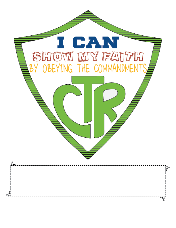 CTR  Lesson helps for Primary 3 Lesson 16: We Can Show Our Faith by Being Obedient