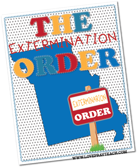 Individual lesson helps packet for Primary 5 Lesson 31: The Extermination Order