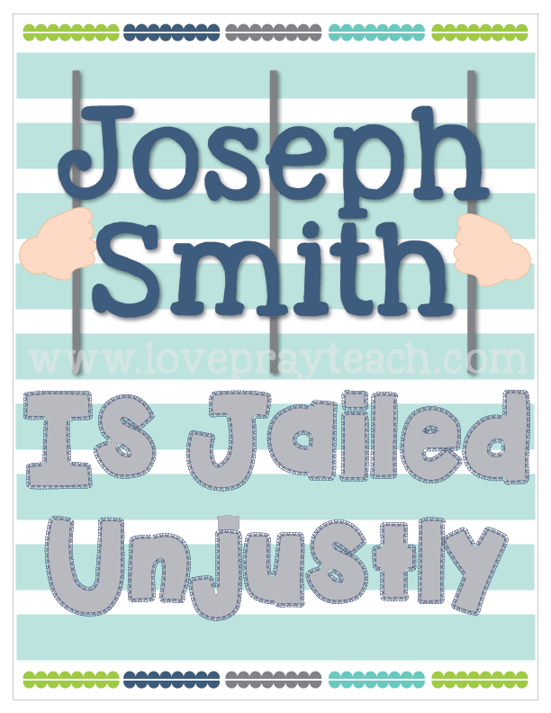 Individual lesson helps packet for Primary 5 Lesson 32: Joseph Smith Is Jailed Unjustly