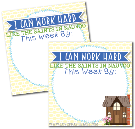Individual lesson helps packet for Primary 5 Lesson 33: The Saints Work to Build Nauvoo, the Beautiful