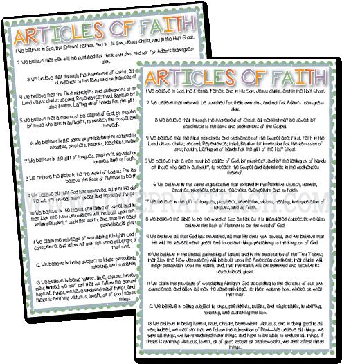 Primary 5 Lesson 36: Joseph Smith Writes the Articles of Faith