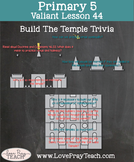 Primary 5 Lesson 44: The Salt Lake Temple Is Constructed and Dedicated