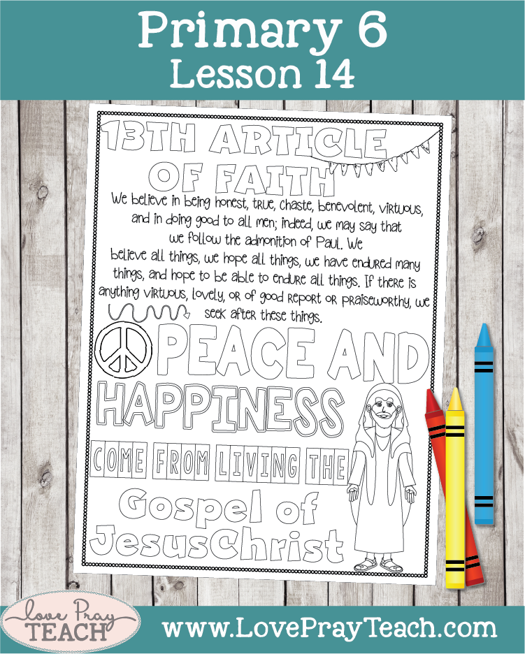 image about 13th Article of Faith Printable named Main 6 Lesson 14: Jacob and His Loved ones
