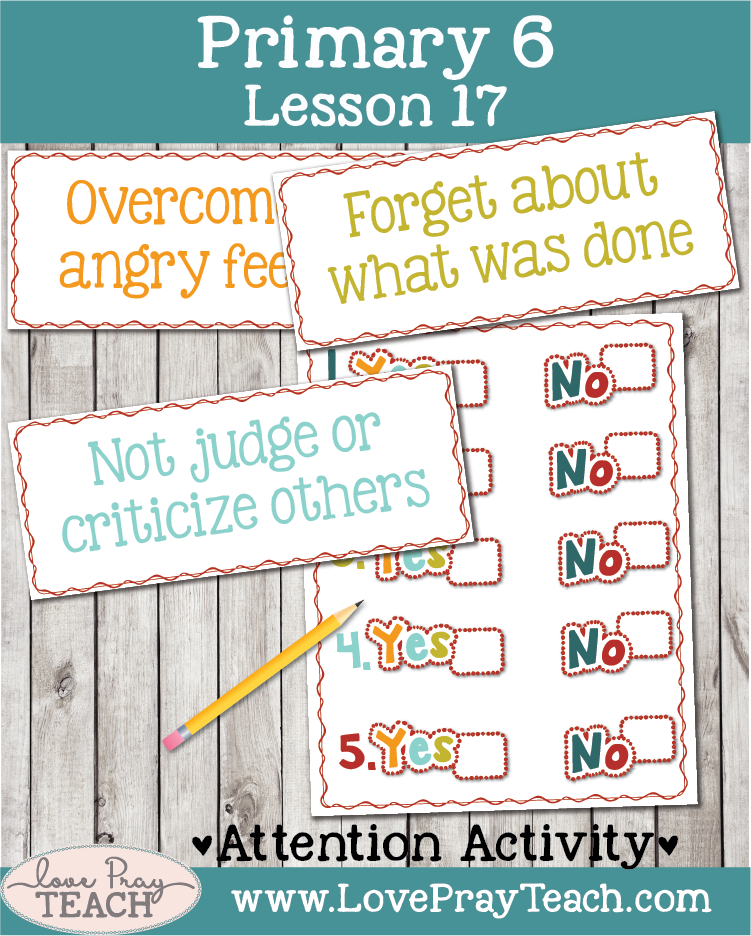 Lesson helps packet forPrimary 6 lesson 17: Joseph Forgives His Brothers