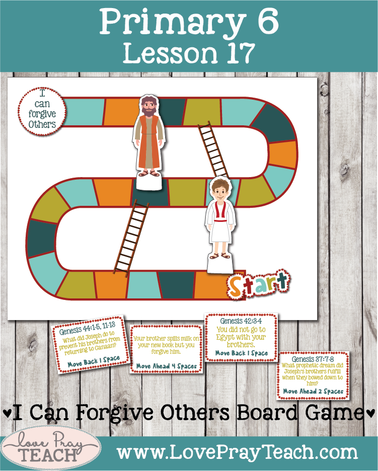 Lesson helps packet for Primary 6 lesson 17: Joseph Forgives His Brothers