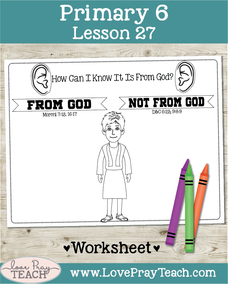 Individual lesson helps packet for Primary 6 Lesson 27: Samuel, the Boy Prophet