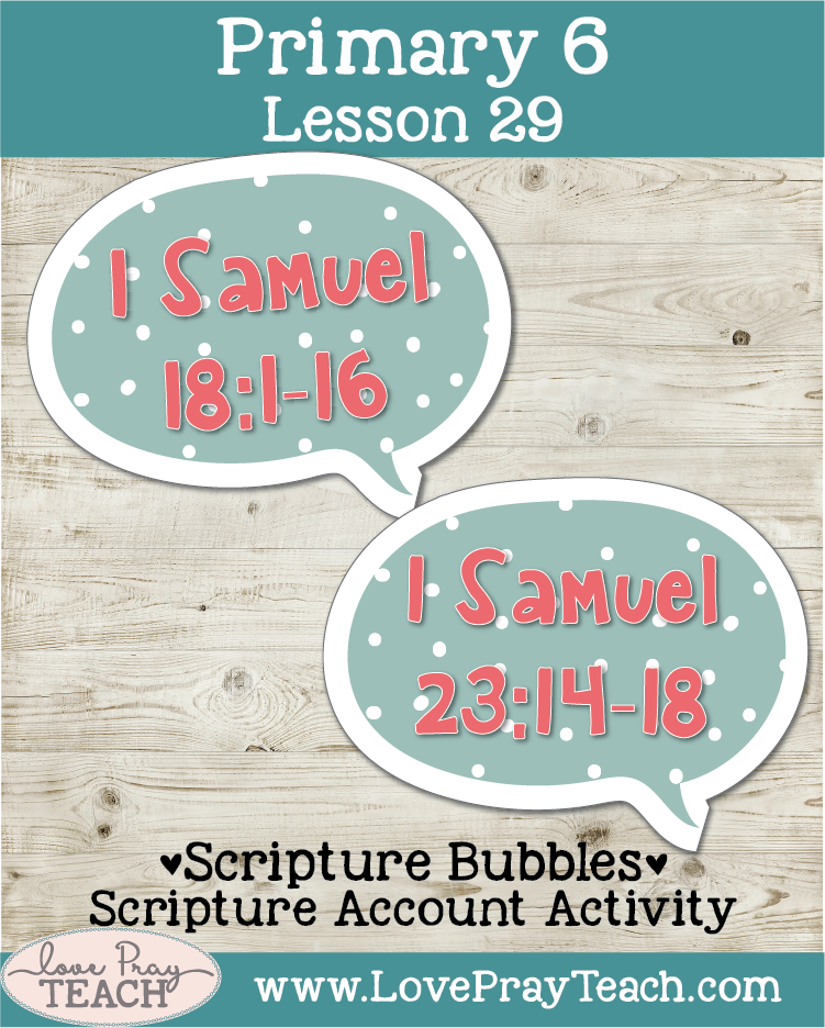 Primary 6 Lesson 29: David and Jonathan