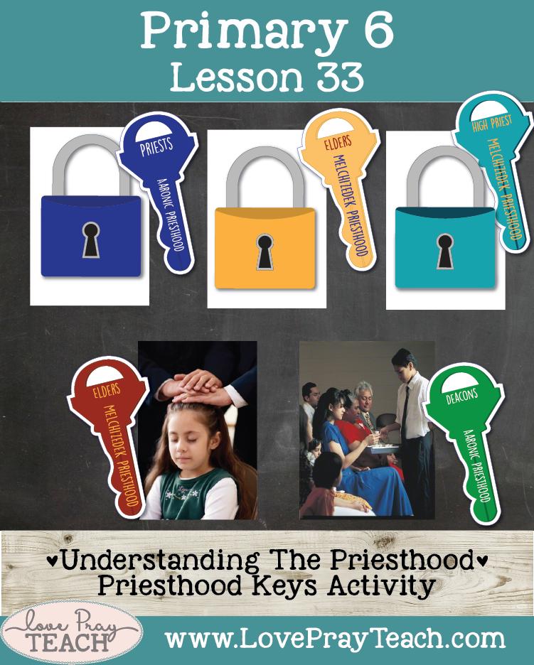 Primary 6 Lesson 33: Elijah Uses the Priesthood