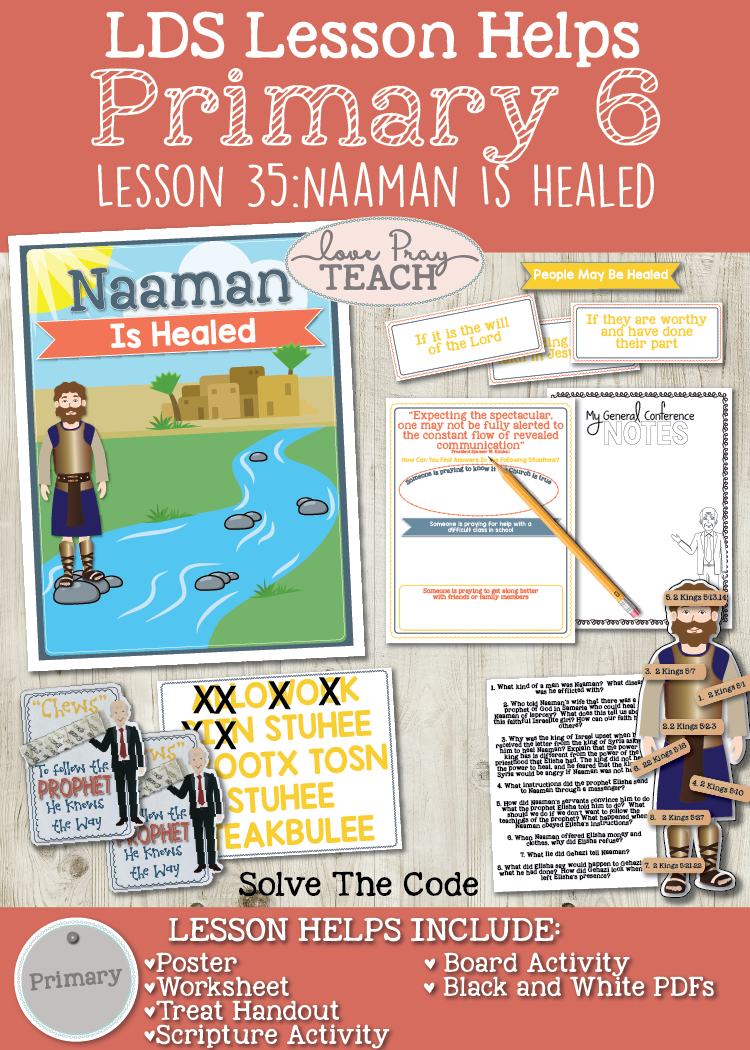 Primary 6 Lesson 35: Naaman Is Healed