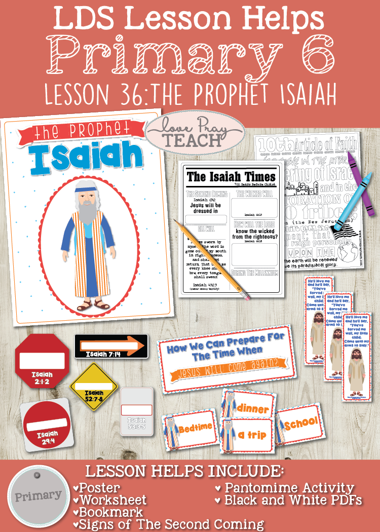 Primary 6 Lesson 36: The Prophet Isaiah
