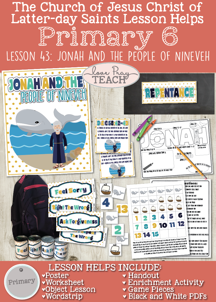 Primary 6 Lesson 43: Jonah and the People of Nineveh