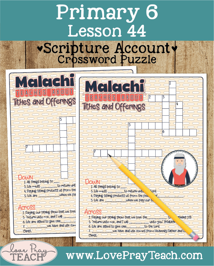 Primary 6 Lesson 44: Malachi Teaches about Tithes and Offerings