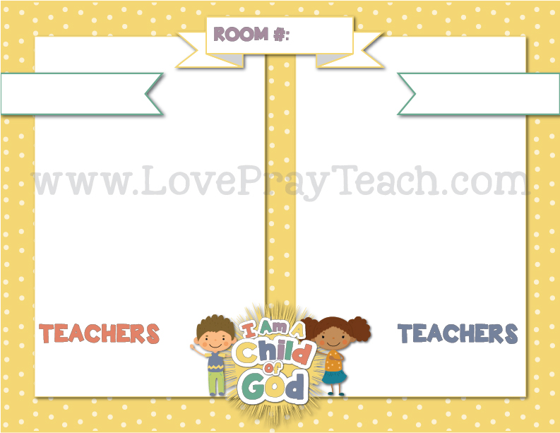 2018 Primary Theme CLASSROOM DOOR SIGNS Printable Packet - Love Pray ...