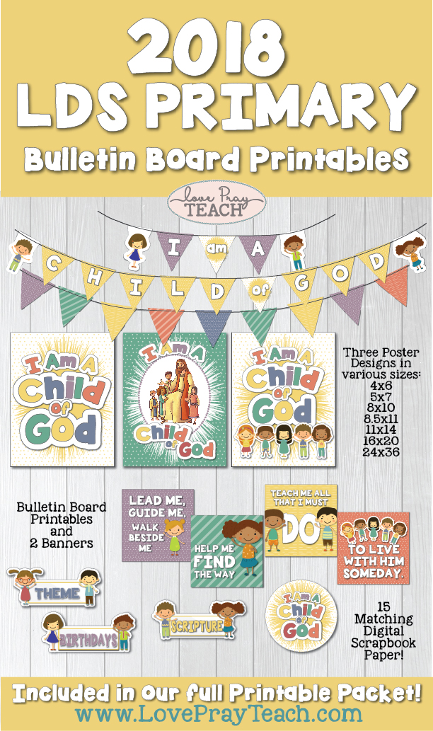 2018 Primary Theme Bulletin Board and Posters Printables