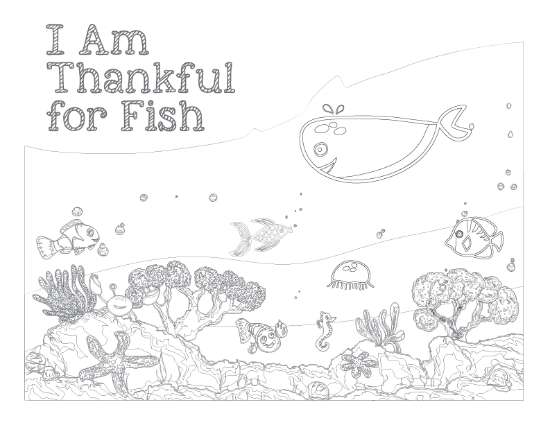 I am thankful for fish coloring page coloring page for What kind of fish am i