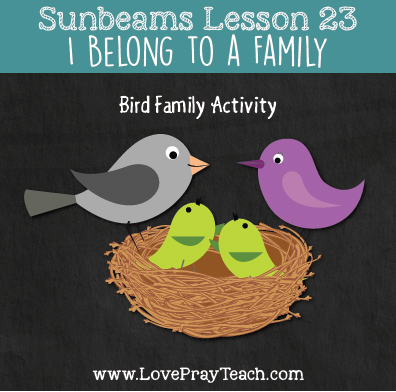LDS Primary 1 Sunbeams Lesson 23: