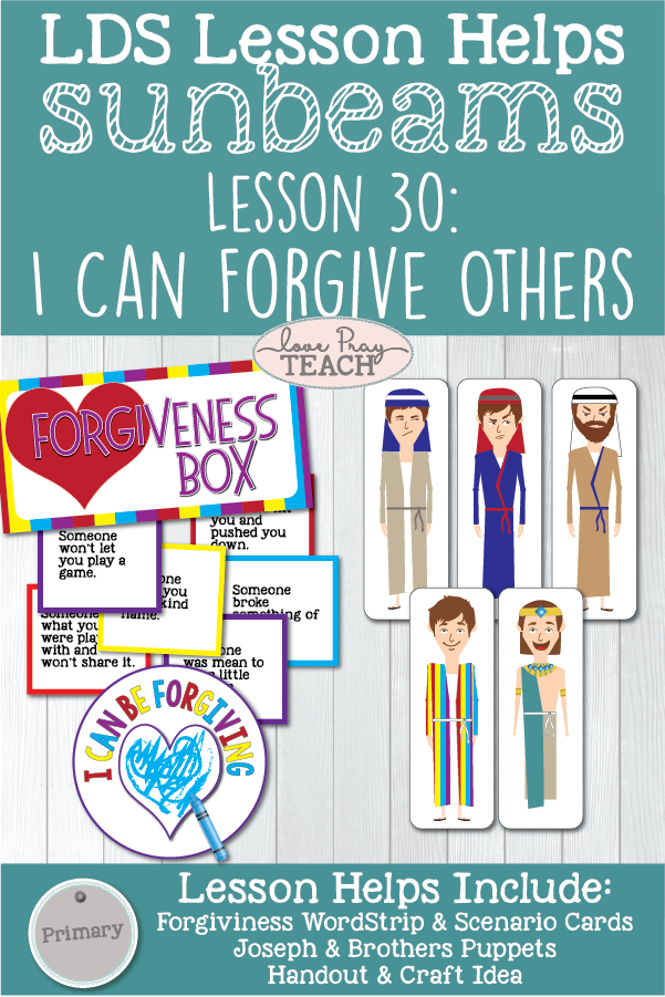 Lds Primary 1 Sunbeams Lesson 30 I Can Forgive Others Printable