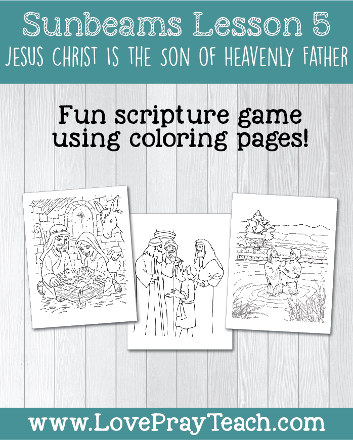 LDS Primary 1 Sunbeams Lesson 5: