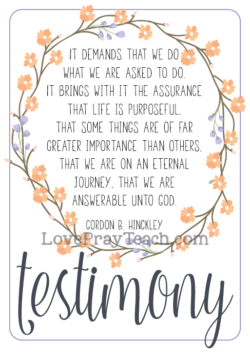 Gordon B. Hinckley Chapter 9: 'The Precious Gift of Testimony