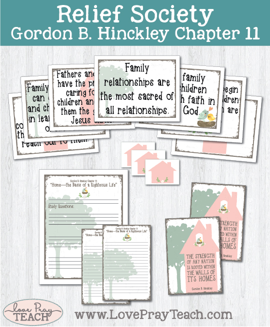 LDS Relief Society Lesson Helps for Gordon B. Hinckley Chapter 11: