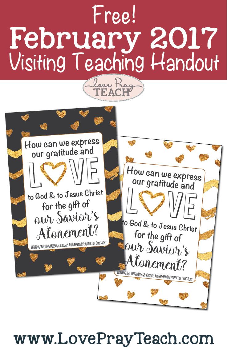 Free February 2017 Visiting Teaching Handouts
