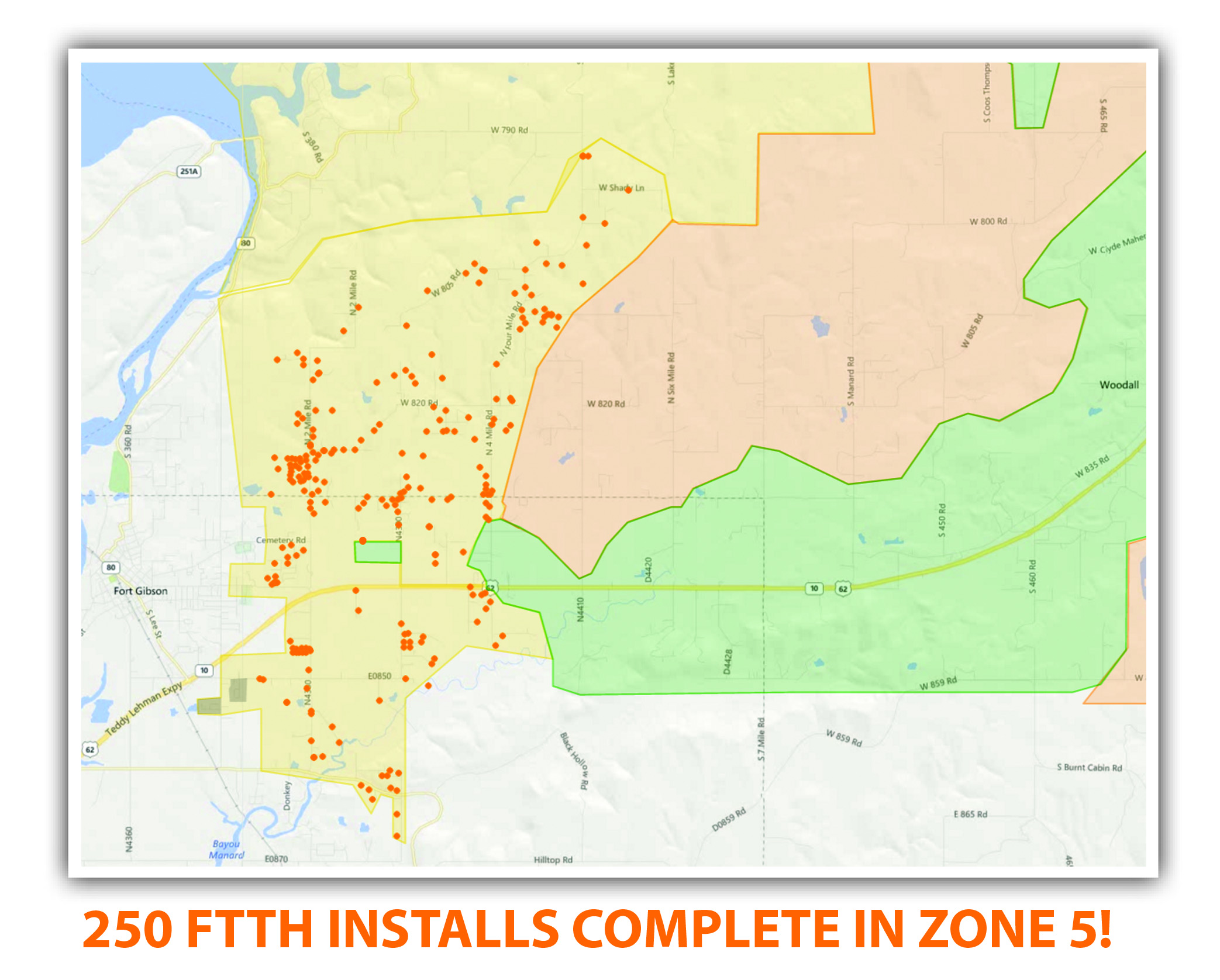 Lake Region Technology  Communications - Us map by zip code zones