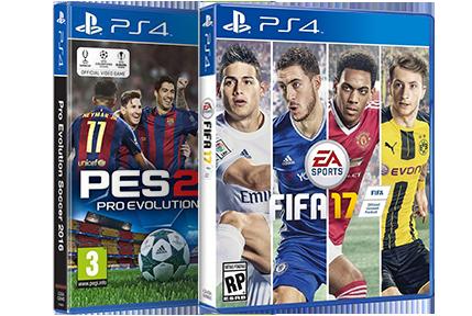 FIFA 17 ou PES 17