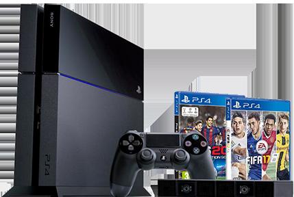 PS4 + 1 jeu (FIFA ou PES)