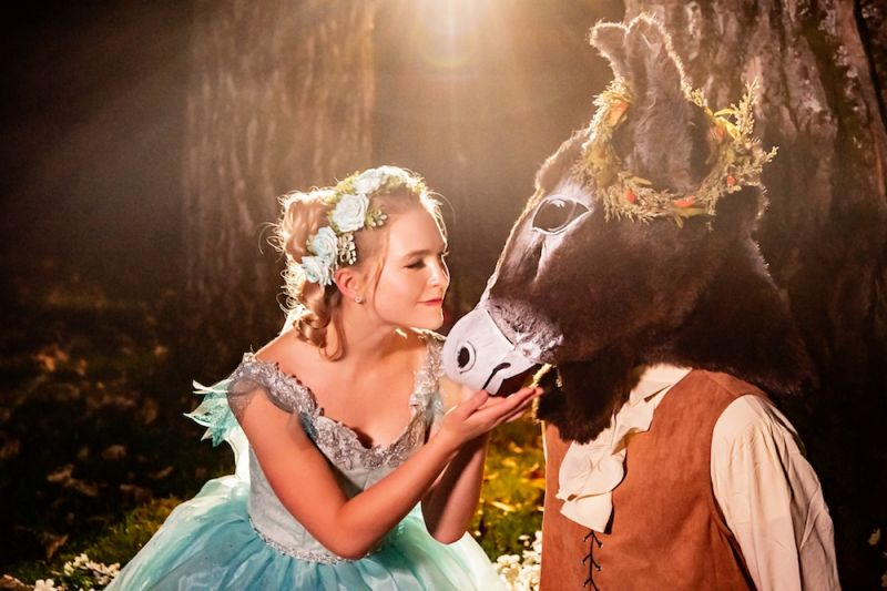Titania and Bottom in A Midsummer Night's Dream
